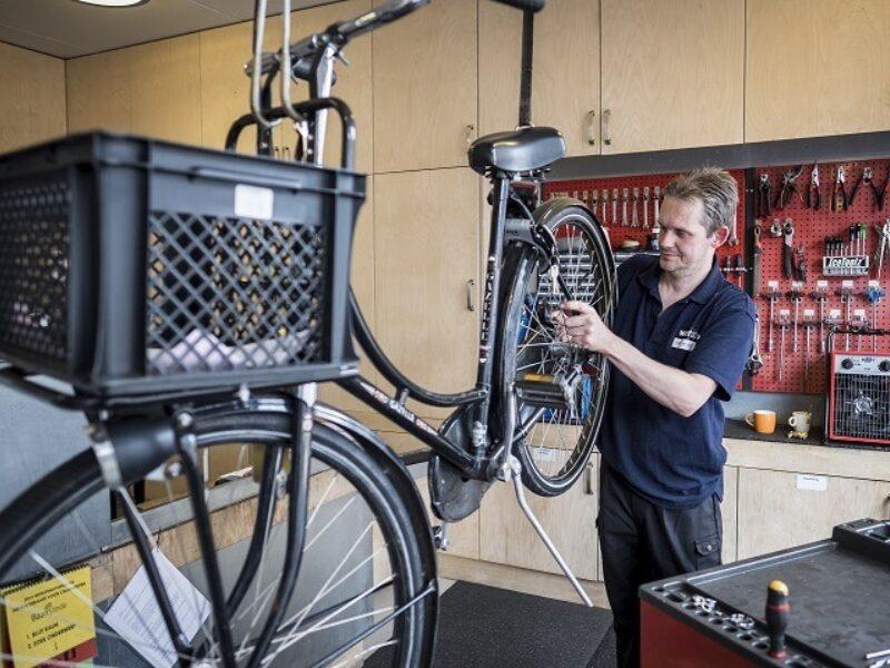Werken aan fiets
